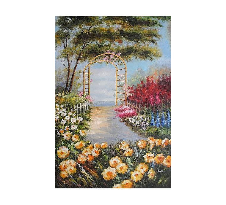 Pejzaż, ogród (60x90cm)