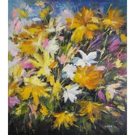 Kwiaty, łąka, abstrakcja (50x60cm)