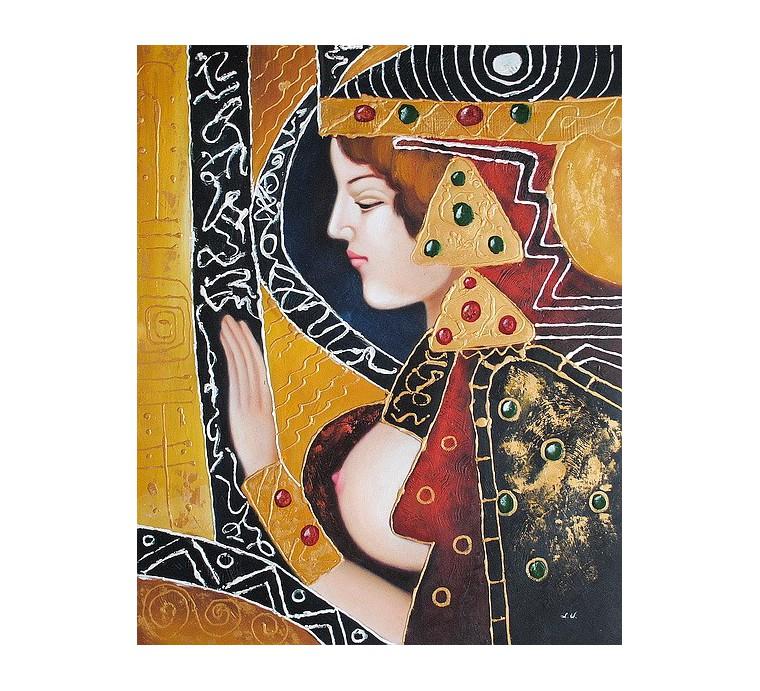 Akt, abstrakcja (50x60cm)