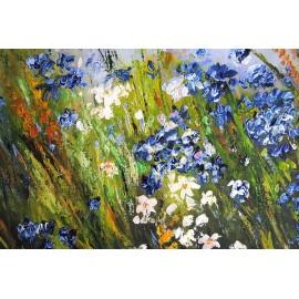 Łąka, kwiaty (60x80cm)