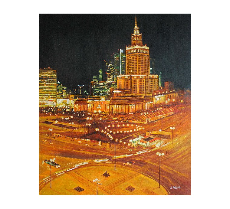 Warszawa, Pałac Kultury (50x60cm)