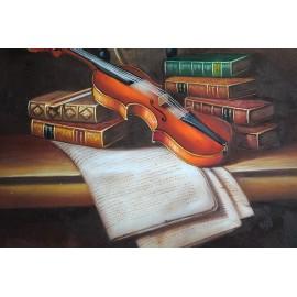 Martwa natura, skrzypce (50x60cm)