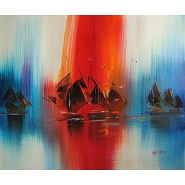 Abstrakcja marynistyczna (50x60cm)