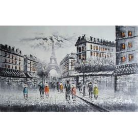 Paryż, uliczka (60x90cm)