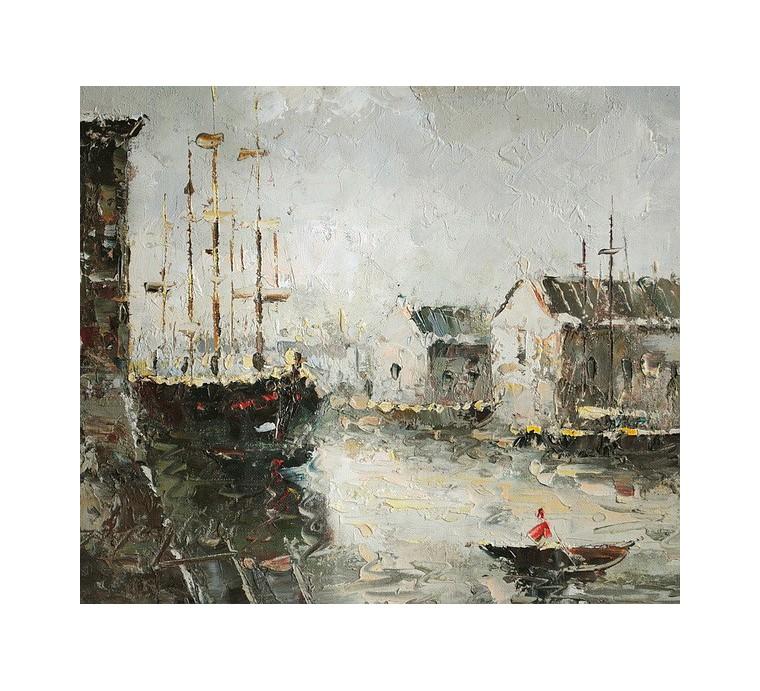 Port, impresja (30x40cm)