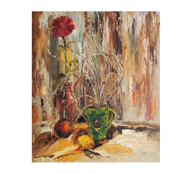 Goździk, martwa natura (50x60cm)