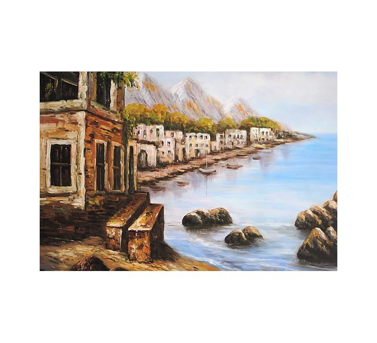 Śródziemnomorski pejzaż (50x60cm)