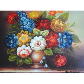 Kwiaty w wazonie (50x60cm)