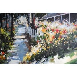 Impresja, ogród kwiatów (50x60cm)