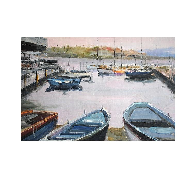 Port, łodzie (50x60cm)