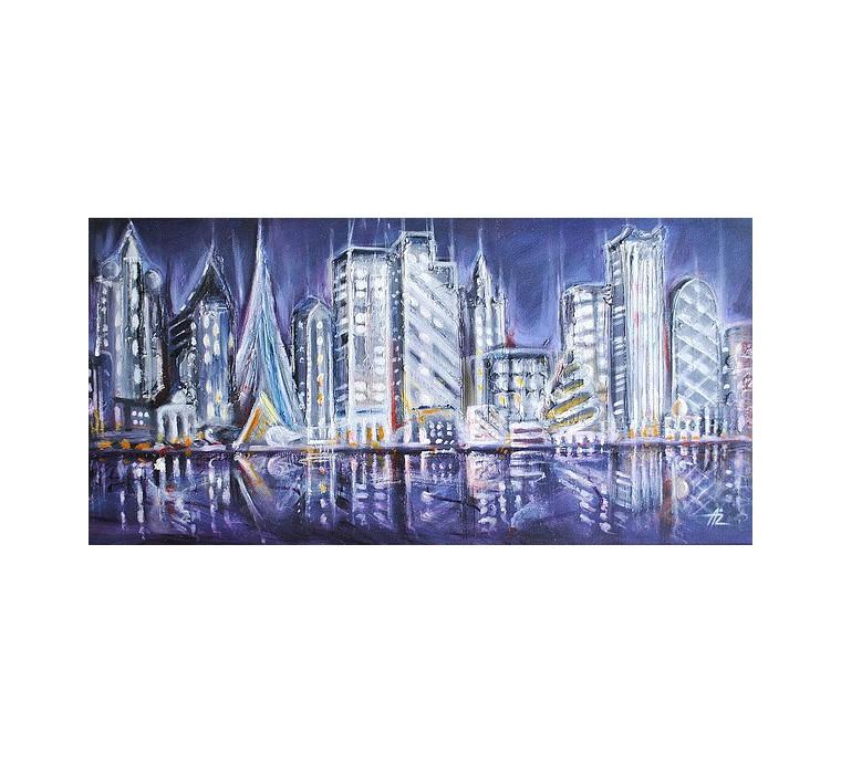 Miasto, abstrakcja (75x37cm)