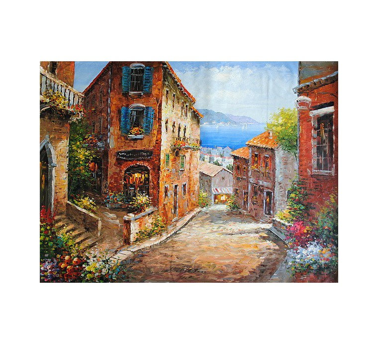 Prowansalska uliczka (90x120cm)