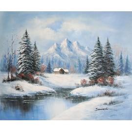 Zima, pejzaż (50x60cm)