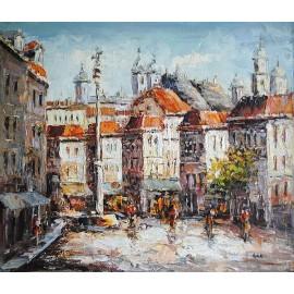 Warszawa, impresja (50x60cm)