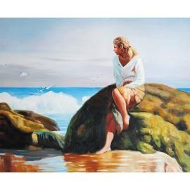 Kobieta na plaży (50x60cm)