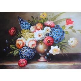 Kwiaty w wazonie (60x90cm)