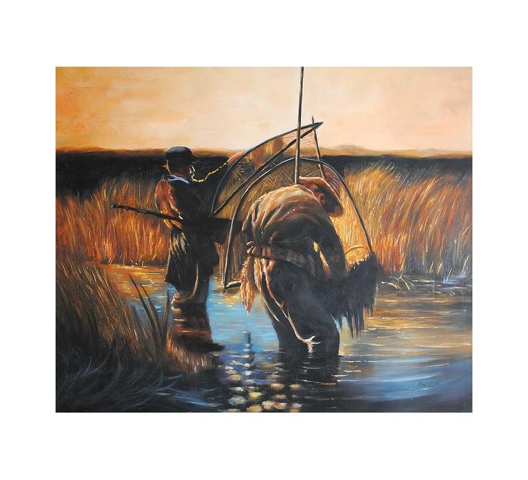 Rybacy, połów (50x60cm)
