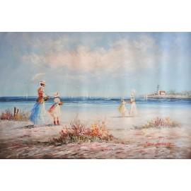 Dzieci, plaża (60x90cm)
