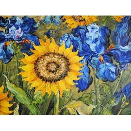 Słoneczniki i irysy (50x60cm)
