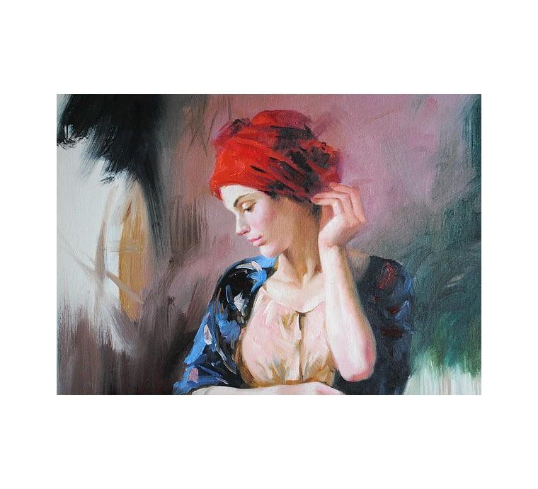 Kobieta w turbanie (50x60cm)
