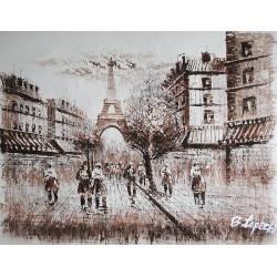 Paryska uliczka (50x60cm)