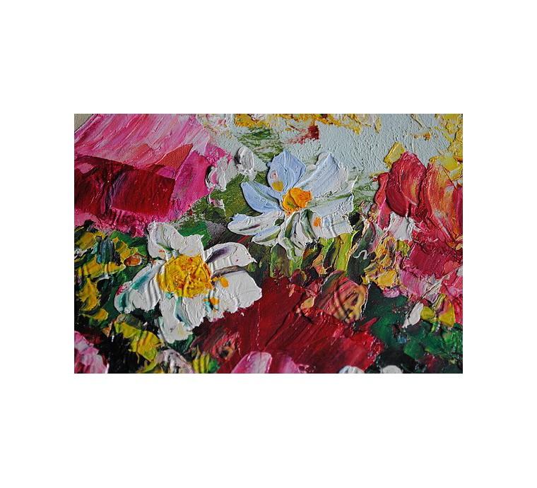 Kwiaty impresja (50x60cm)