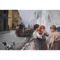 Dzieci, uliczka (50x60cm)