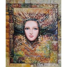 Kobieta, abstrakcja (50x60cm)