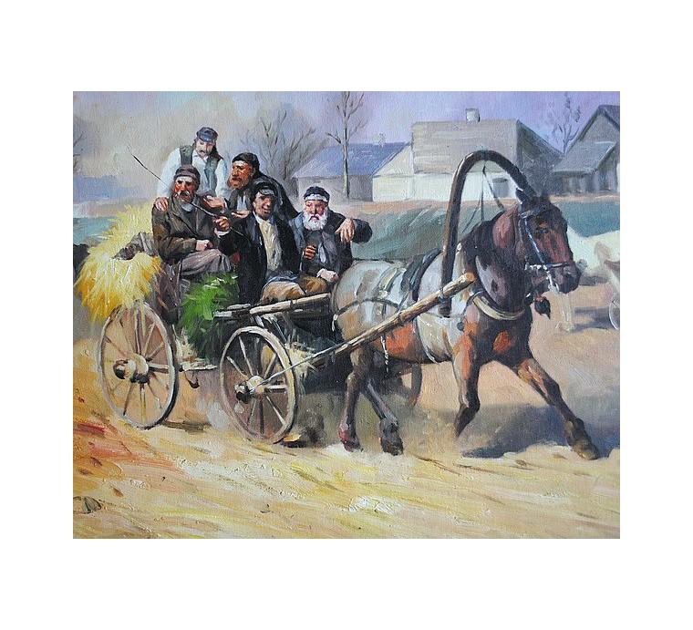 Żydzi, jarmark (50x75cm)