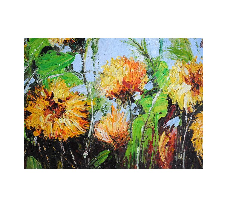 Żółte kwiaty (50x60cm)