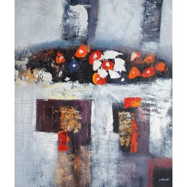 Abstrakcja, kwiaty (50x60cm)