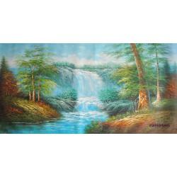 Wodospad, pejzaż (60x120cm)