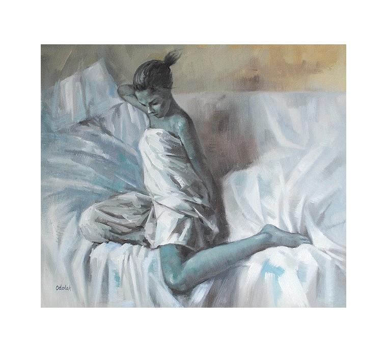 Kobieta na kanapie (50x60cm)