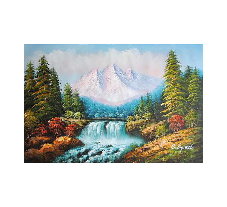 Góry, pejzaż (60x90cm)