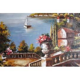Śródziemnomorski widok (50x60cm)