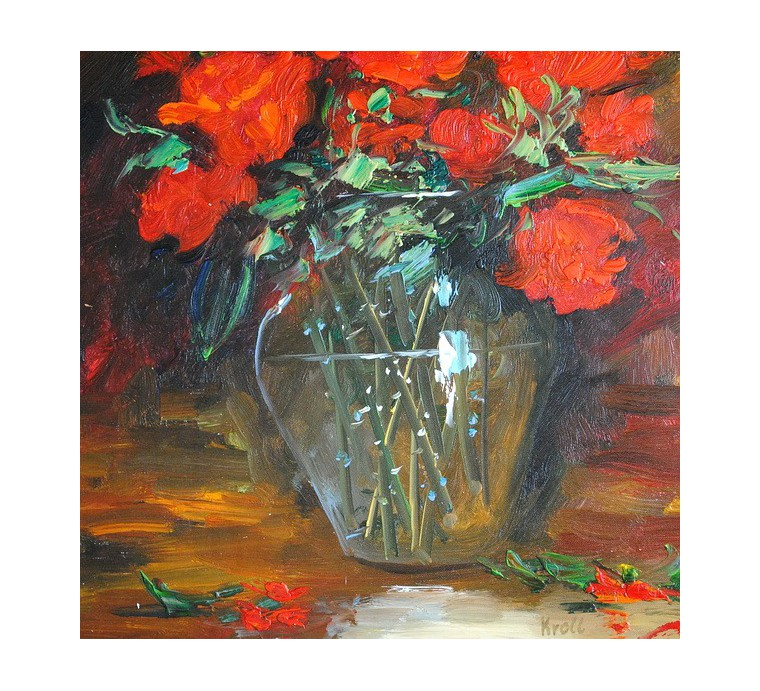 Czerwone róże (50x60cm)