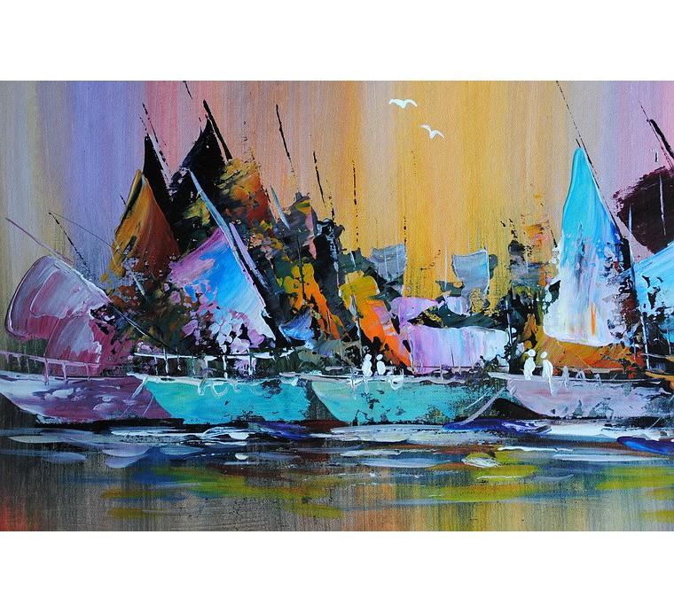 Morska abstrakcja (50x60cm)