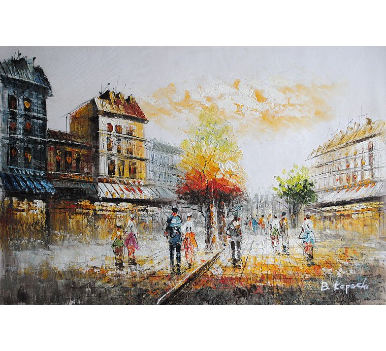 Paryska uliczka (60x90cm)