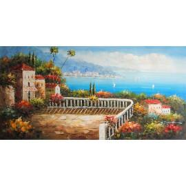 Liguryjski pejzaż (60x120cm)