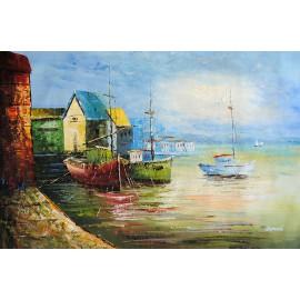 Port, kutry rybackie (60X90cm)