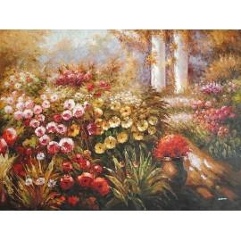 Pejzaż, kwiaty (90x120cm)