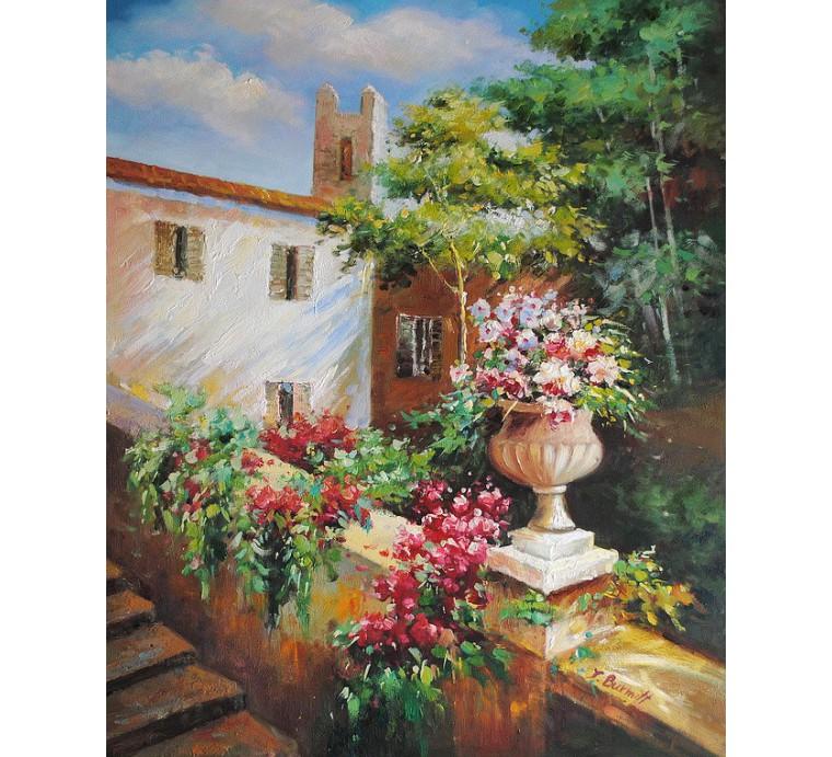Pejzaż z ogrodem (50x60cm)