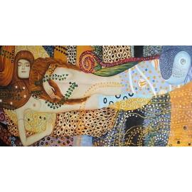 Klimt, Węże wodne (50x100cm)