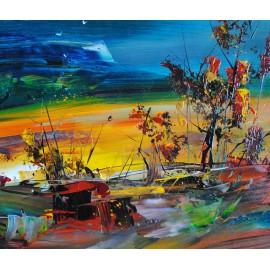 Abstrakcja, kwiaty (60x90cm)