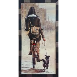Dziewczyna na rowerze (45x90cm)