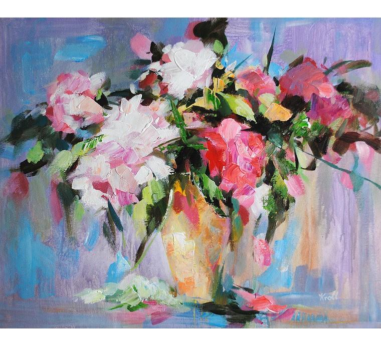 Obraz z kwiatami (50x60cm)