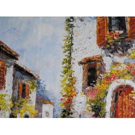 Obraz z uliczką (50x60cm)