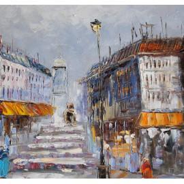 Obraz z uliczką miejską (60x90cm)