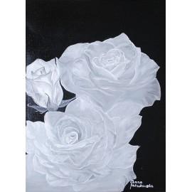 Białe róże (33x46cm)
