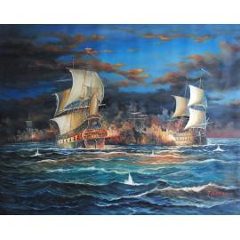 Bitwa morska (90x120cm)